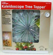 LightShow 19 in. Projection Tree Topper-Kaleidoscope-Starburst (White)