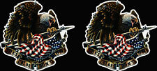 These Color don't Run USA Flag Eagle Sticker Decal Car Truck Bumper Army Patriot