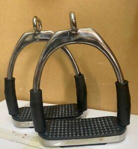 Brand New Flexi Bendy Offset Eye Stirrup Pairs Iron . DS..