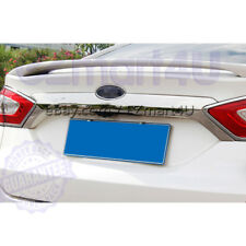 Fit 2013-2015 2016 FORD FUSION Chrome Rear Trunk Streamer Logo Trim