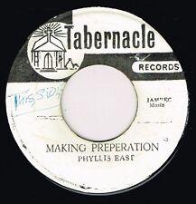 "PHYLLIS EAST-making preperation  7""  tabernacle (hear) Jamaican Gospel, studio 1"