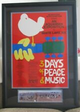 1969 Original Woodstock Music & Art Fair Poster, Over 50 Years Old!
