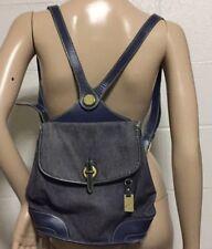 Dooney Bourke Backpack Denim Sling Bag Purse Handbag Vtg Vintage Shoulder Strap