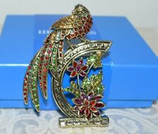 """Topaz Crystal Magnificent Brooch Pin New $170 Heidi Daus """"Imperial Pheasant"""""""