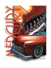 1950 Mercury Custom car poster Art
