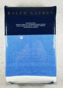 Ralph Lauren Georgica Branford Euro Sham Blue White New In Package NIP