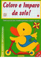 Coloro e imparo da solo num 4 per bambini di 4+ anni - Libro Nuovo in offerta !