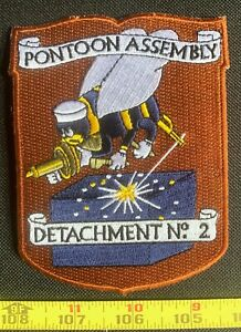 US Military Seabee 2nd Pontoon Assembly Detachment Iron On Embroidered Patch