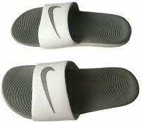 NIKE Kawa Slide Sandals Size  7 834588 Metallic Summit Pool Beach White Gray