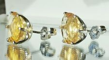 2.94ctw Faceted Yellow MEXICAN FIRE OPAL .925 Sterling Silver Stud Earrings