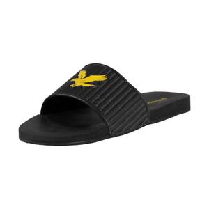 Lyle & Scott Men's Easy Sliders True Black Slider  Size 6 7 8 9 10 11 12