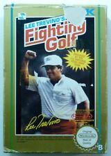 LEE TREVINO'S FIGHTING GOLF jeu boite + notice NES cartouche NINTENDO testé PAL