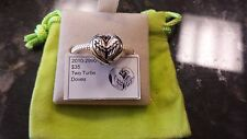 Authentic Chamilia Two Turtle Doves Christmas Charm
