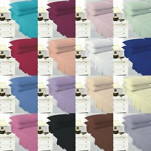 """Polycotton Non Iron Easy Care 4ft Small Double Fitted Sheet Extra Deep 40cm/16"""""""
