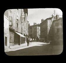 LE MONASTIER c. 1900 - Rue Hôtel du Nord Auvergne - Glass Slide 46