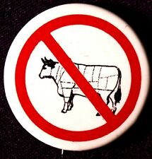 Don'T Eat Cows Button - 1980'S Pinback Scarce