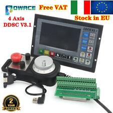 【IT】CNC 4Axis DDCS V3.1 500KHz Stepper Motor Motion Controller+Pendant Handwheel