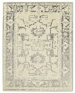 Restoration Hardware Arte Ivory / Charcoal Hand Knotted Rug 9x12 Wool $8795