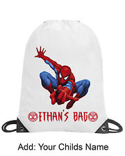 Boy Spiderman Personalised Bag Swimming PE Gym Dance School Gift Any Child Name