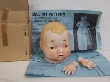 Antique Porcelain Bye-Lo Repro Doll Kit With Pattern Made in Japan Hayes Spec