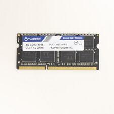 Timetec 8GB DDR3 PC3-8500 1066MHz 2Rx8 CL7 1.5V SODIMM Memory 78AP10NUS2R8-8G