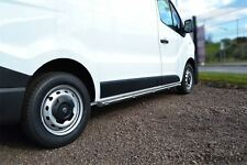 "TO FIT 2014+ RENAULT TRAFIC LWB Stainless Steel Chrome 2"" Side bars Steps + voyants"