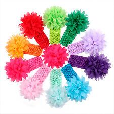 10pcs Kids Girl Baby Toddler Cute Flower Headband Hair Band Accessories Headwear
