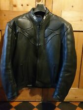 """Carrera Leathers Black Vintage Motorcycle Jacket 44"""",  UK made, Great condition."""