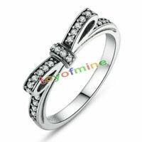 Monili delle donne adattabili dell'anello di arco scintillante di Sterling 925
