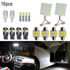 16pcs LED Interior Package Kit For T10 T5 31-42mm Map Dome License Plate Lights