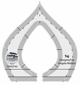 """Creative Grids Taj by Angela Walters 1/4"""" Thick Machine Quilting Ruler"""