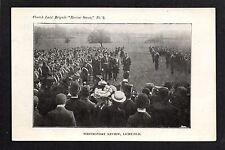 Lichfield - Church Lads' Brigade, Whit Monday Review - printed postcard