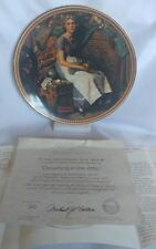 NEW NORMAN ROCKWELL COLLECTOR PLATE ( Dreaming In The Attic)