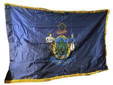 New listing Vtg State Of Maine Dirigo Tasseled Gold Fringed 69�x46� Flag Banner
