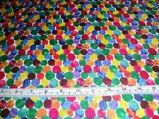 THE VERY HUNGRY CATERPILLAR BRIGHT PARTY DOTS SPOTS ANDOVER COTTON QUILT FABRIC