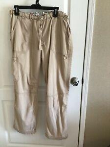 Koi Lindsay Khaki Scrub Pants Size L EUC