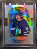 AUSTON MATTHEWS 2019-20 UD Stature 27/85 Design Variant Card #1 - Maple Leafs