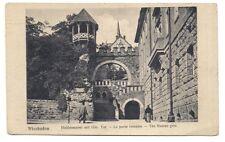 wiesbaden ,heidenmauer mit röm , la porte romaine
