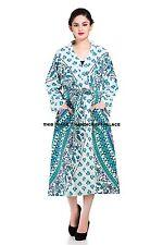 Kimono Hippie Lingrie Night Wear Indian Mandala Intimates Cotton Wrap Robes Gown