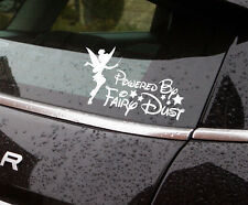 """Tinker bell fairy dust vinyl sticker approx 7"""" wide also available in black"""