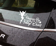 "Tinker bell fairy dust vinyl sticker approx 7"" wide also available in black"