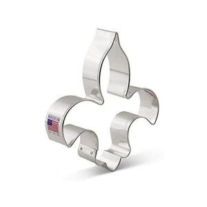 FLEUR DE LIS Metal Cookie Cutter, Ann Clark 4.75 Inches