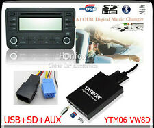 Yatour Digital Cd changer 8pin for Vw Audi Skoda Seat Quadlock Sd Usb Adapter