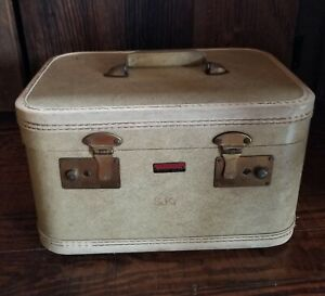 Vintage Mackinite Luggage Train Case, Retro Chic