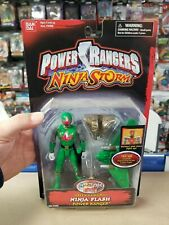 "Power Rangers Ninja Storm 5"" GREEN SAMURAI Ninja Flash Power Ranger New Sealed"