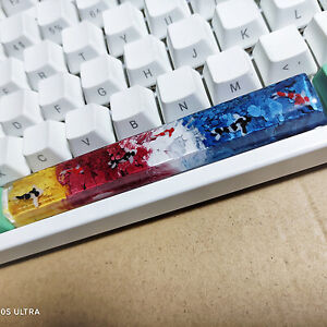 Mechanical Keyboard Yellow Red White And Blue Four-color Space Bar Resin Keycap