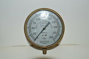 Vintage Grinnell Company /  JAS Morrison Co. Canada Brass Water Gauge Steam Punk