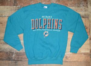 Vintage Pro Player NFL Miami Dolphins Football Spellout Sweatshirt Size Medium