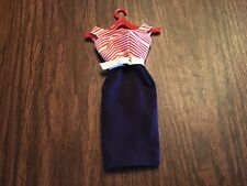 """Vintage Barbie Outfit """"Cruise Striped Dress� #918 In Very Good Condition"""