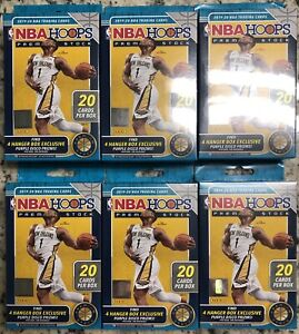 2019-20 NBA HOOPS Premium Stock Hanger Box (Lot Of 6) Factory Sealed Boxes 🔥